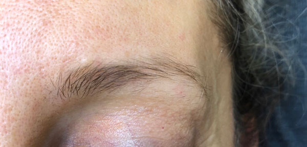 Eyebrow Shape & Tint Before